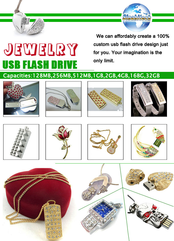 Products Catalogue-Jewelry USB Flash Drives