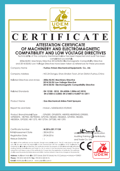 certificate of products