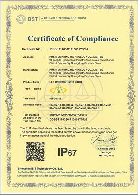 IP67 test of led underground light
