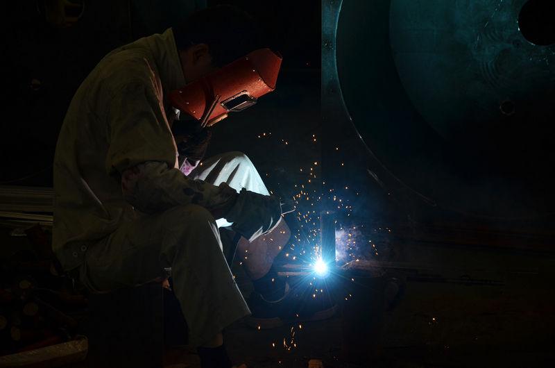 excellent welders in workshop