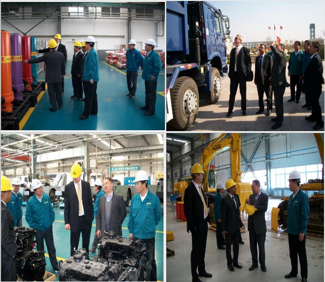 The guest from Saudi Arabia visit SINOTRUK QINGDAO HEAVY INDUSTRY CO., LTD