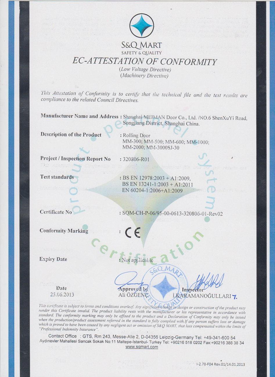 CE Certificate of Europe Union
