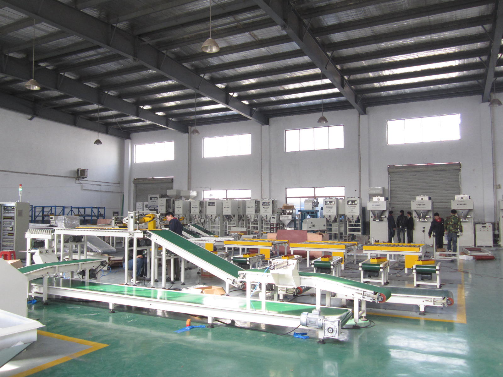 conveyor and bagging machine workshop