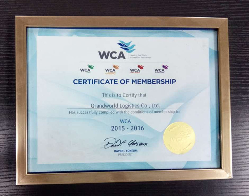 WCA member of world logistics partner