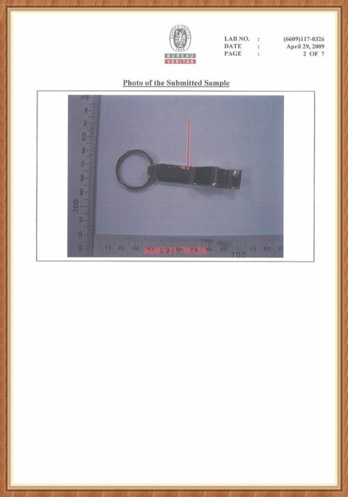 BV Passed Report for Bottle Opener Keychain