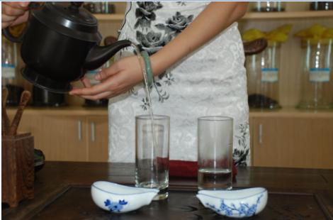 Green Tea brewing art Step 1
