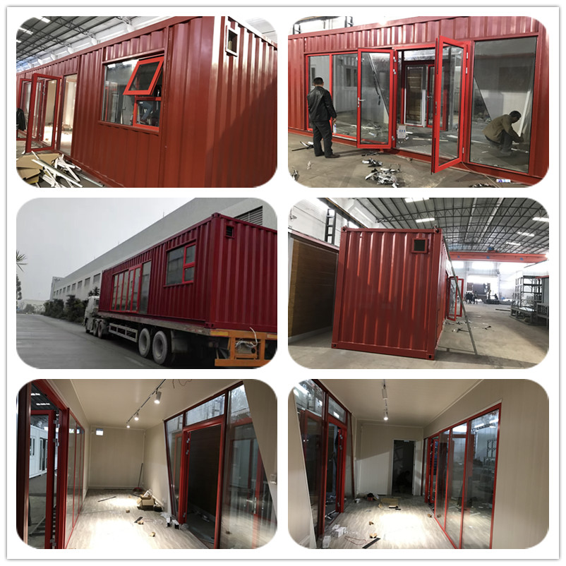 Standard size 40ft fully finished container house for office