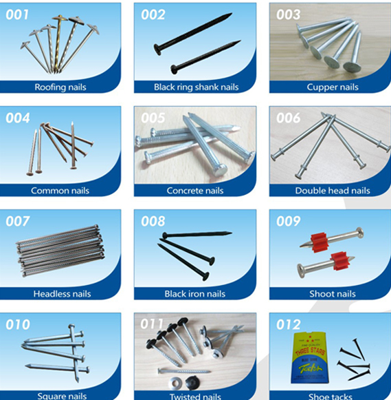 Types Of Iron ~ Supply different types of iron nails common nail