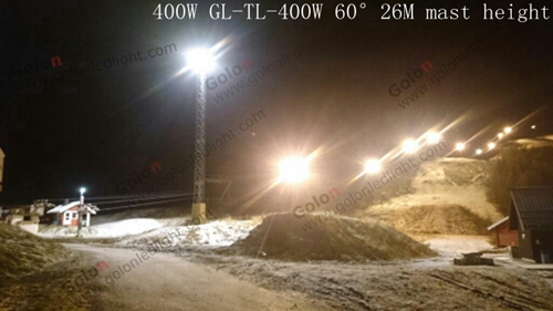 400W LED high mast flood light for outdoor mine in Finland