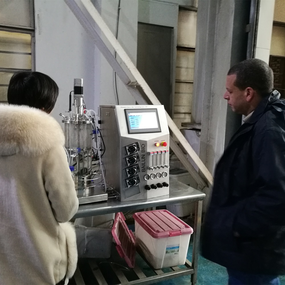 Egypt customers visited 10 liters Animall cell bioreactor