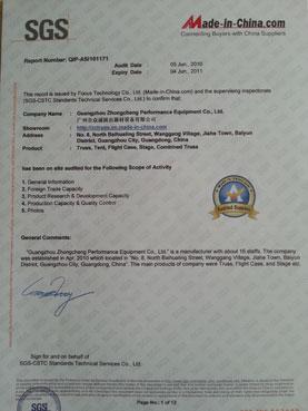 SGS certification