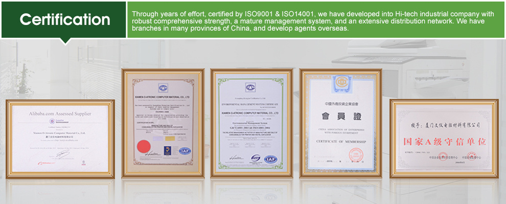 Certification of ISO9001& 14001
