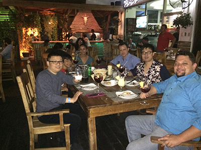 2015.3 in the USA,we participate in OFC and meet customer