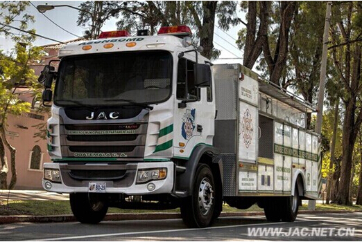 JAC Fire Fighting Trucks Serve Guatemala National Fire Service