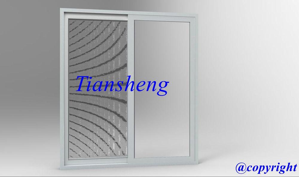 Aluminum sliding door with flyscreen