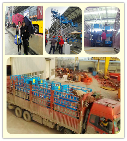 scissor lift on Bauma China & delivery