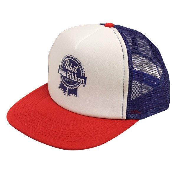 Trucker Hat Pabst Blue Ribbon Beer Cap Snapback Mesh Baseball Funny