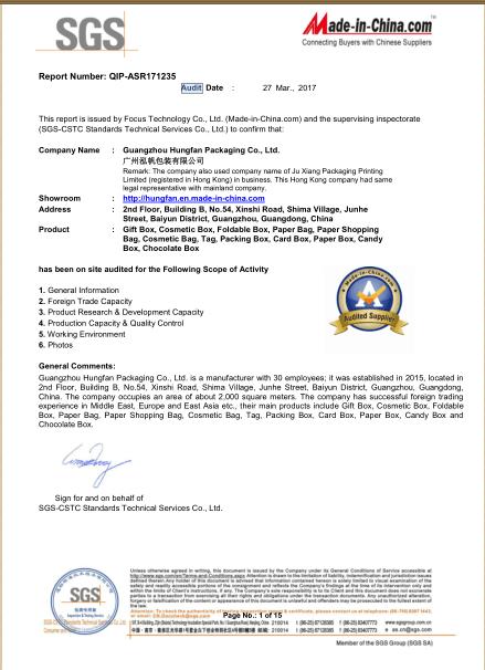 SGS FACTORT INSPECTION