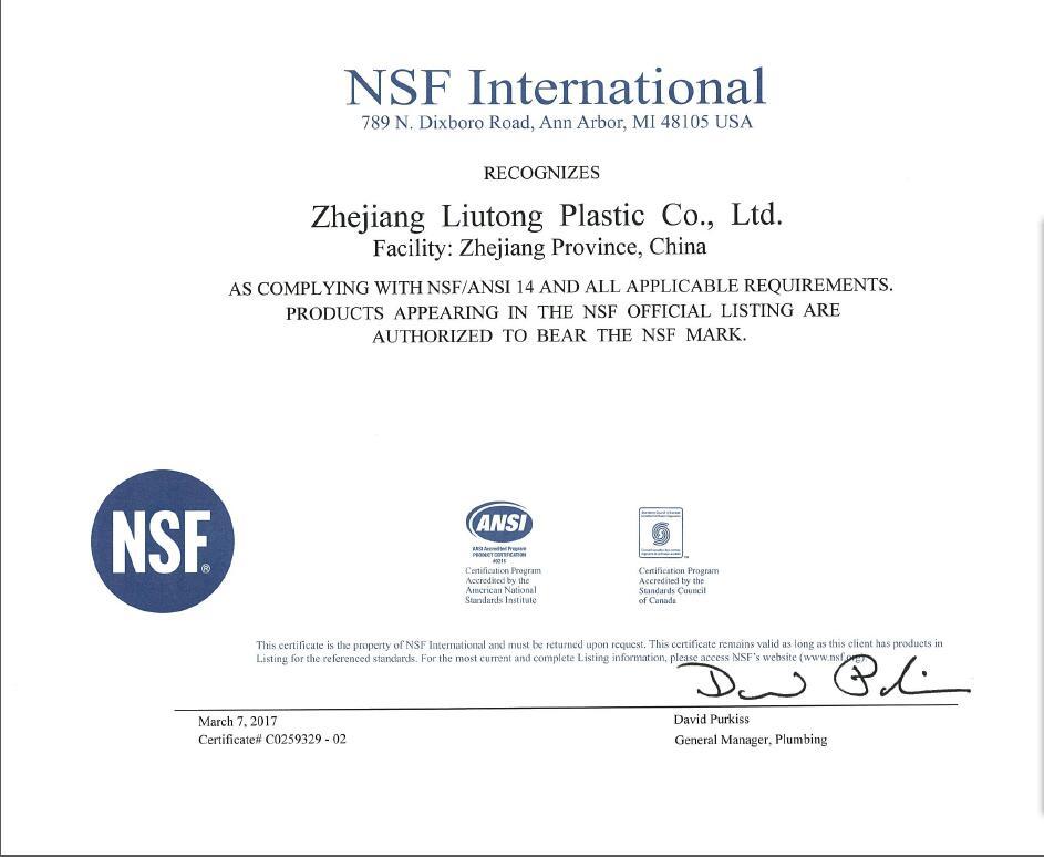 NSF (ASTM SCH40 D2466)