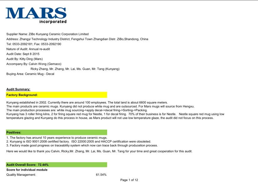 Mars Audit