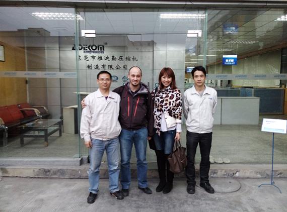France Client Visit ADEKOM
