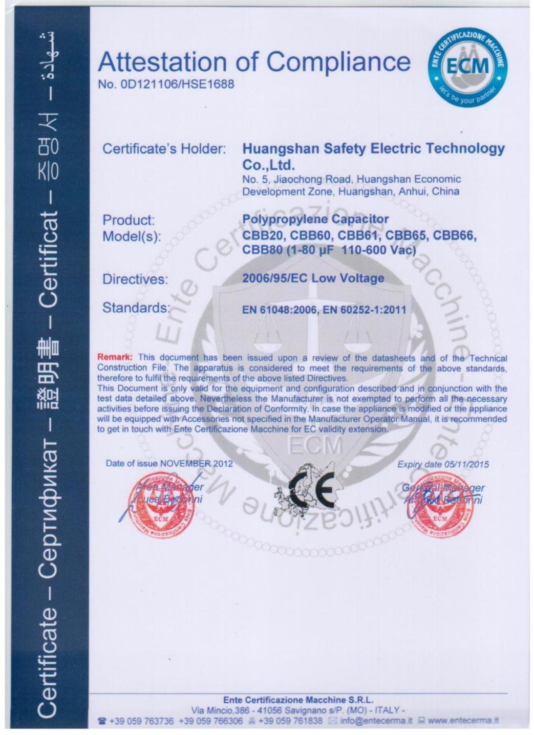 CE FOR CAPACITOR