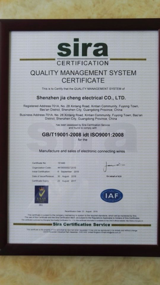 ISO Certification English