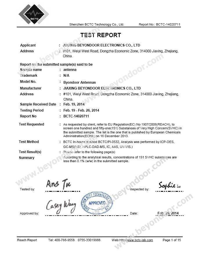 Reach Report Certificates