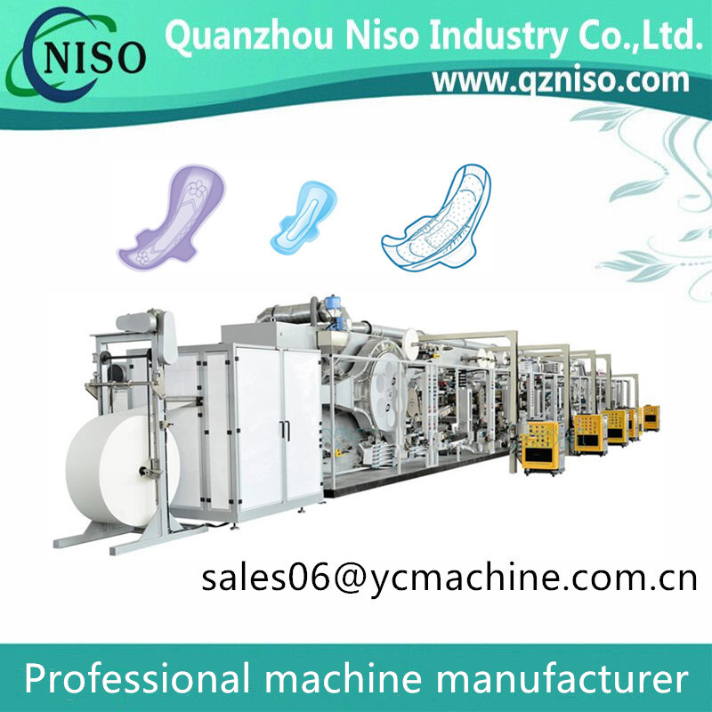 600PCS/Min Sanitary Napkins Machine for U by Kotex Cleanwear Ultra Thin Women Pads with Wings