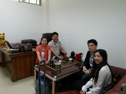 Thailand customer visit our factory for make soap packing machine