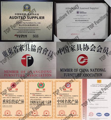 Top hotel furniture certificates