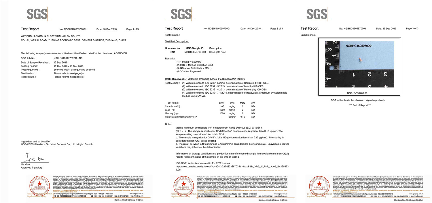 SGS RoHS Report