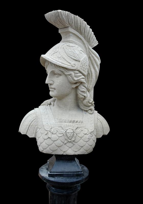 sandstone bust