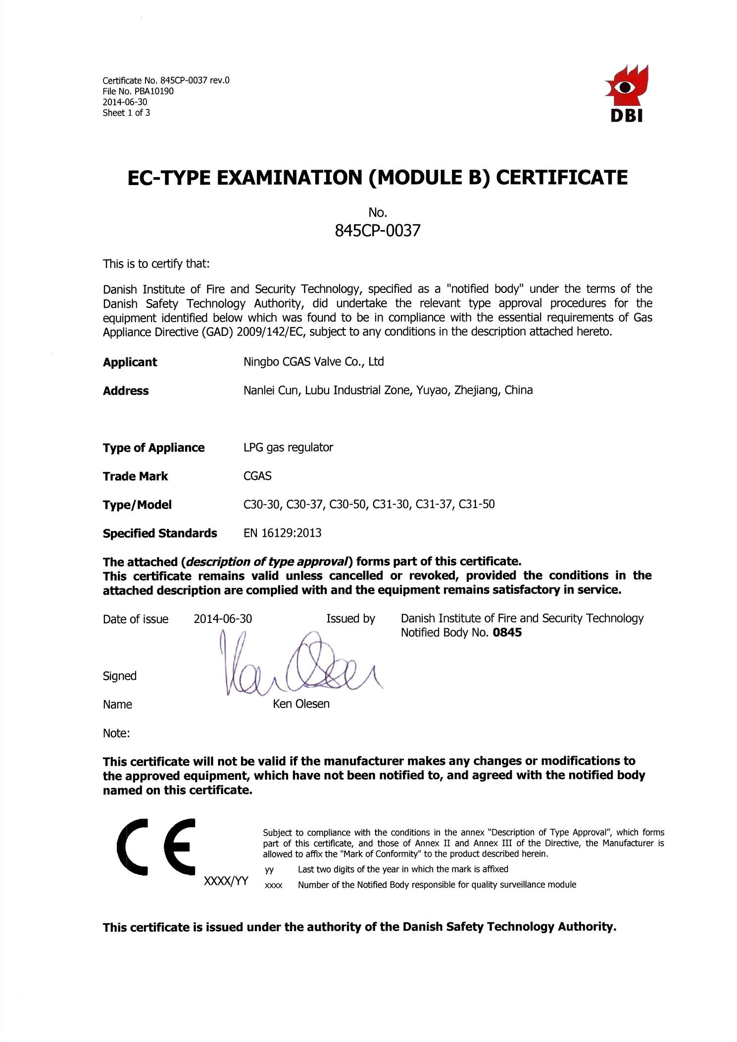 C30 and C31 NEW CERTIFICATE