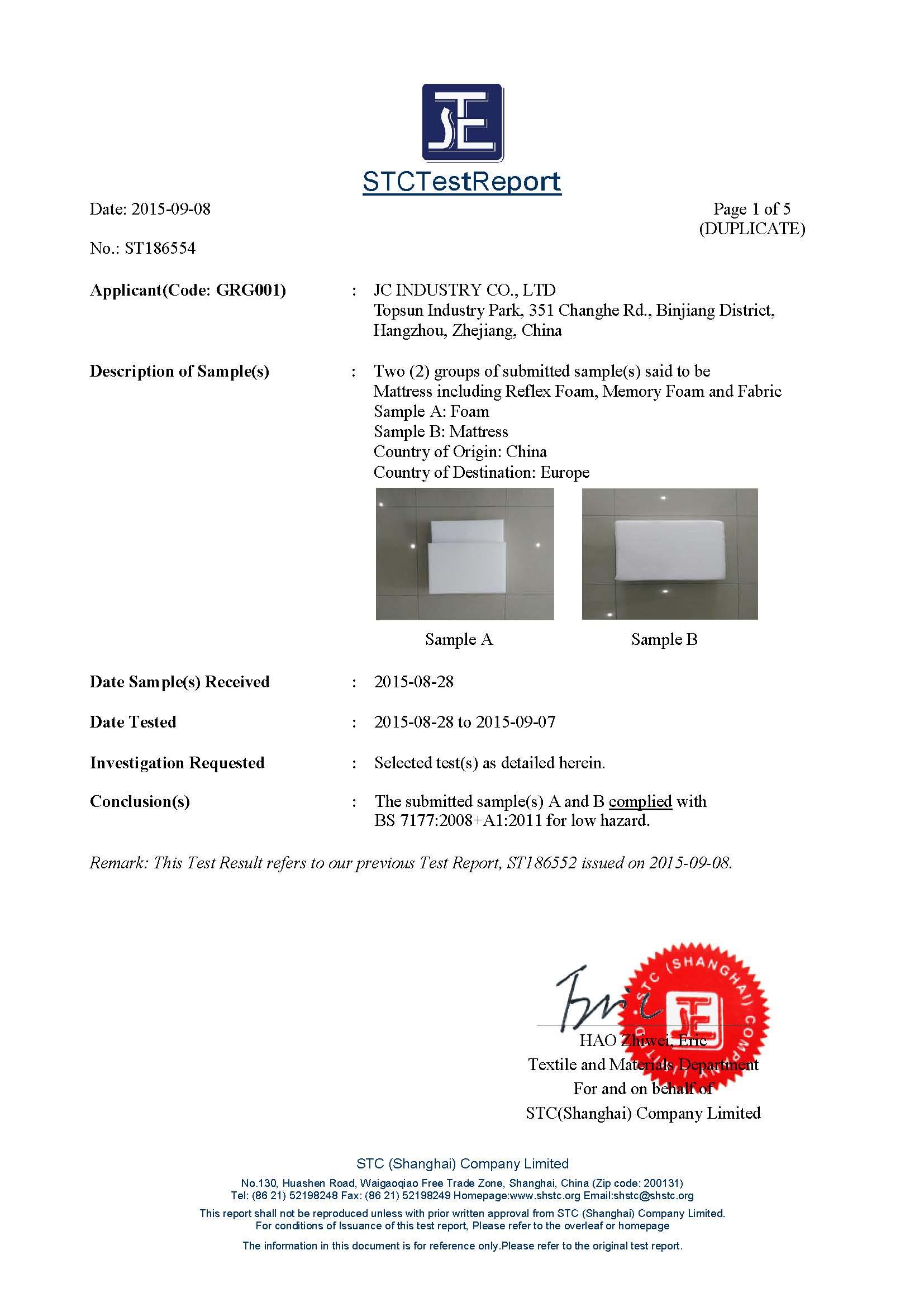 BS7177 Certificate