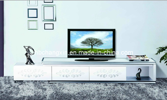 New Modern Design Glass Living Room TV Stand