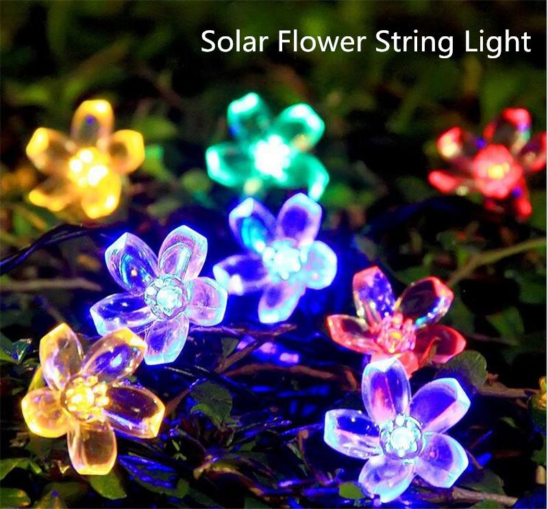 Solar Flower String Light