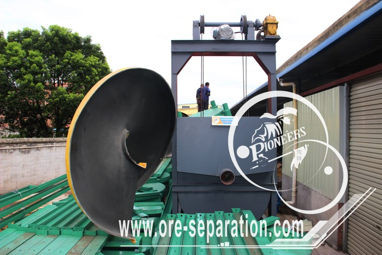Delivery of spiral chutes and spiral classifier to Taunggyi, Shan State