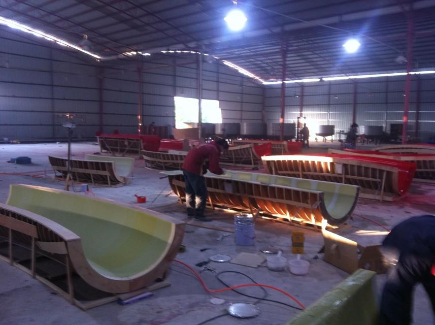 Fiberglass workshop