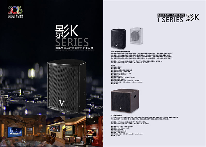 small coaxial speaker for home theatre and conference
