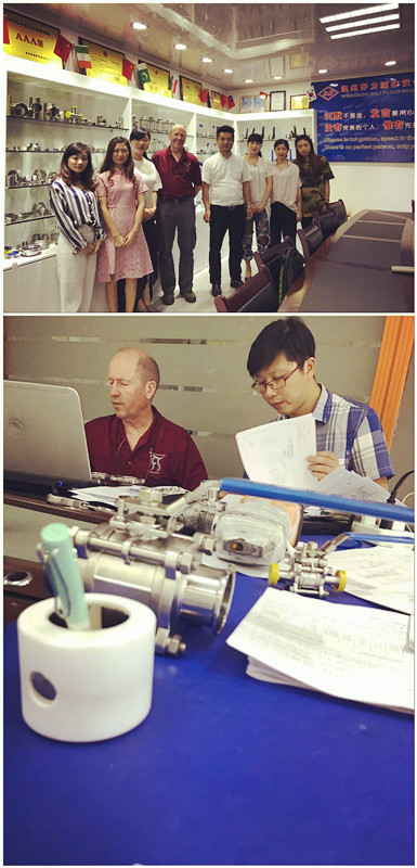 The engineer Mr Gabe of 3A CCE comes to inspect QILI factory