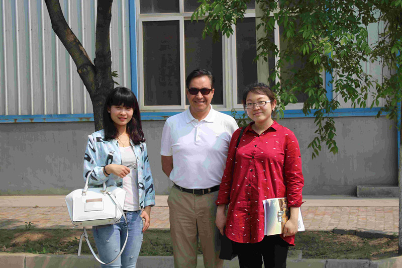 America customer visit our factory