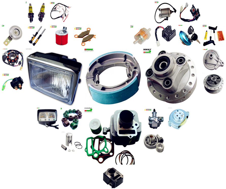 All kinds of motorcycle parts