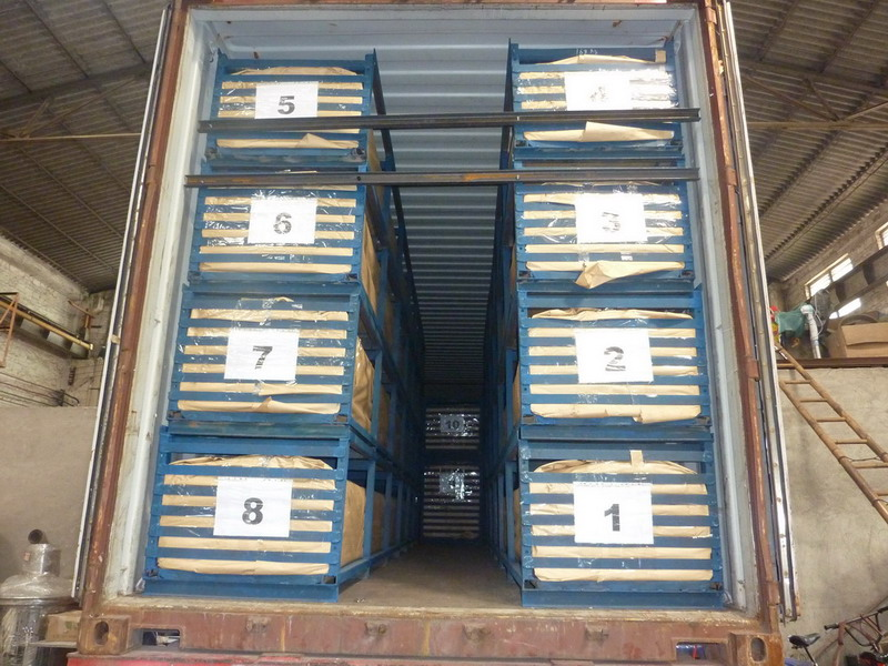Stainless Steel Slotted Tube Loading Container