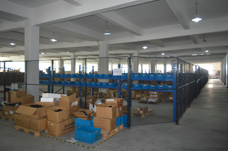 The raw materials warehouse