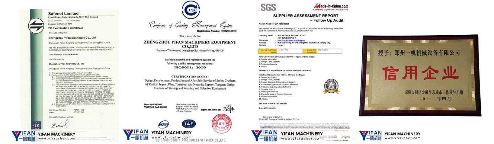 YIFAN certification
