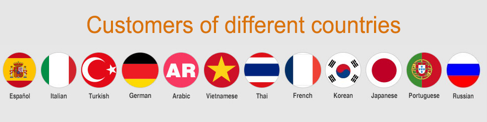 Our customers from different countries