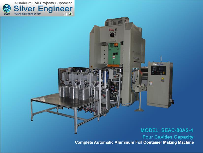 Aluminum Foil Container Making Machine 80Ton