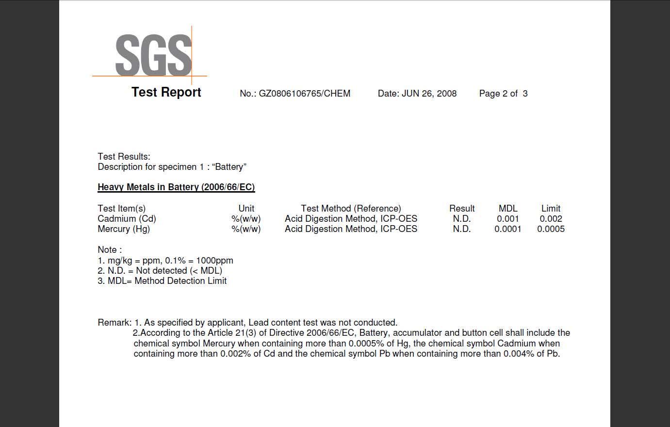 Battary Test Report _2