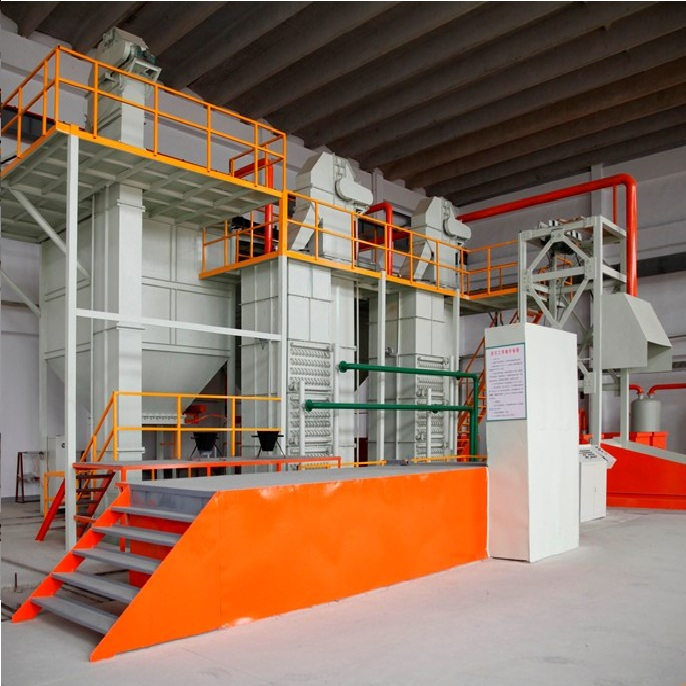 Sand recycling line with moulding flask